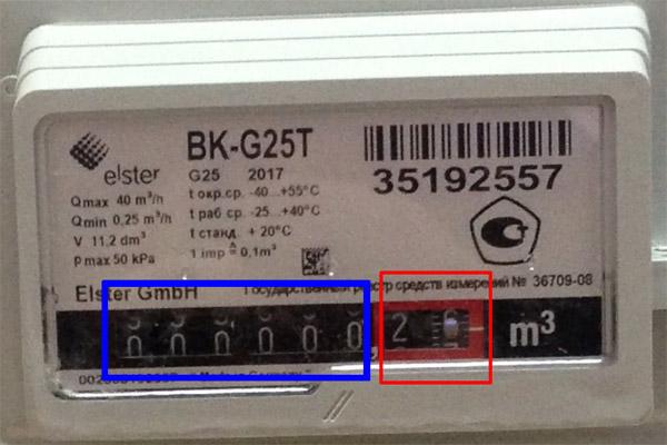 Снятие показаний со счётчика BK G25 и BK G25T