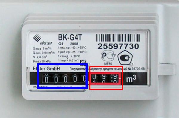 Снятие показаний со счётчика BK G4 и BK G4Т