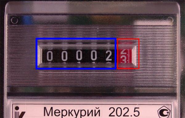 Снятие показаний со счётчика - Меркурий 202