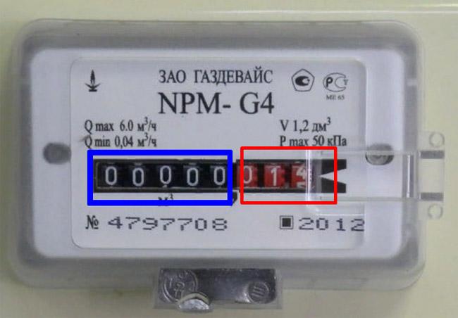 Снятие показаний со счётчика - Газдевайс NPM G4