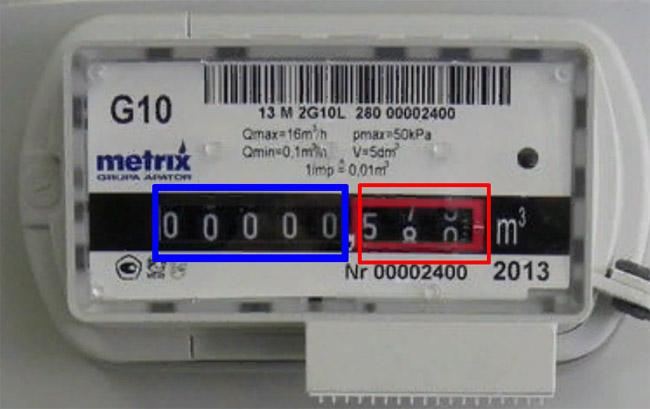 Снятие показаний со счётчика - Metrix G10