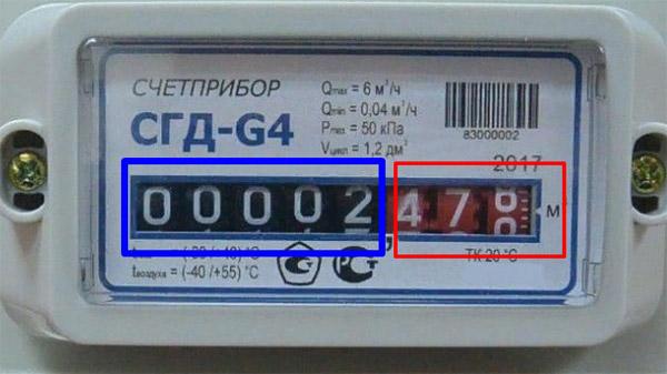 Снятие показаний со счётчика - СГД G4