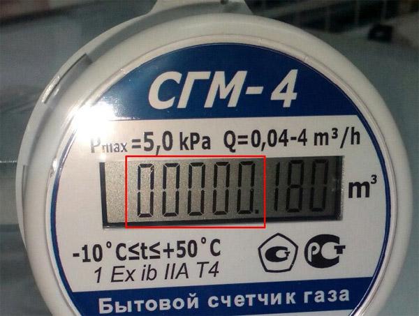 Снятие показаний со счётчика - СГM-4