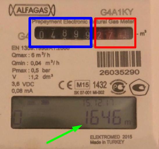 Снятие показаний со счётчика - Alfagas G4A1KY