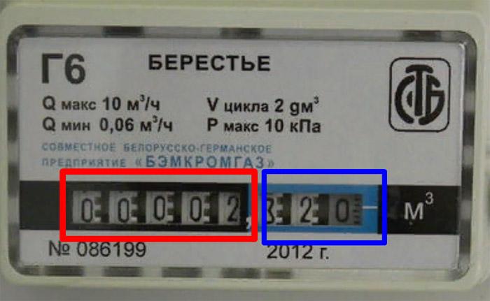 Снятие показаний со счётчика - Берестье Г6