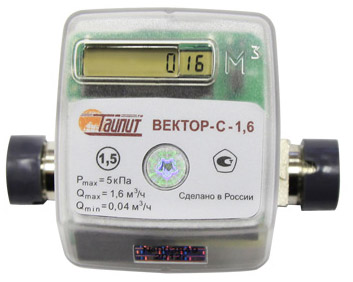 Вид счётчика - Вектор-С-1.6