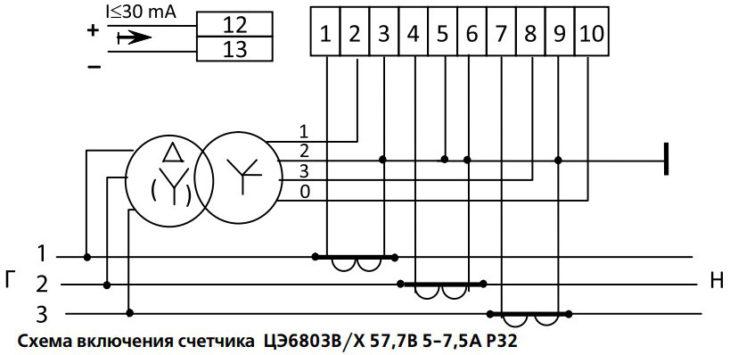 Трёхфазный счётчик электроэнергии - Энергомера ЦЭ6803