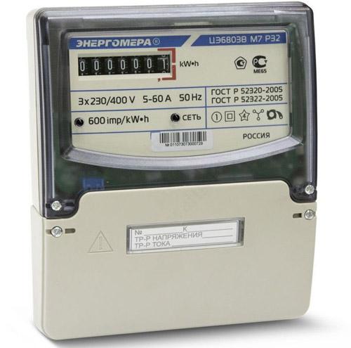 Вид счётчика - Энергомера ЦЭ6803