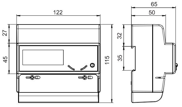 Размеры счётчика электроэнергии - Нева 323