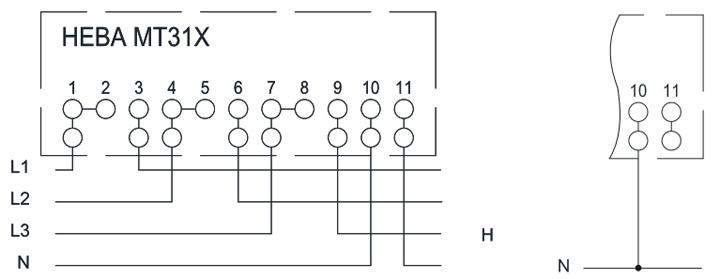 Схема включения счетчиков НЕВА МТ 314 непосредственно в сеть