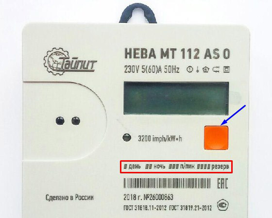 Снятие показаний со счётчика - Нева 112