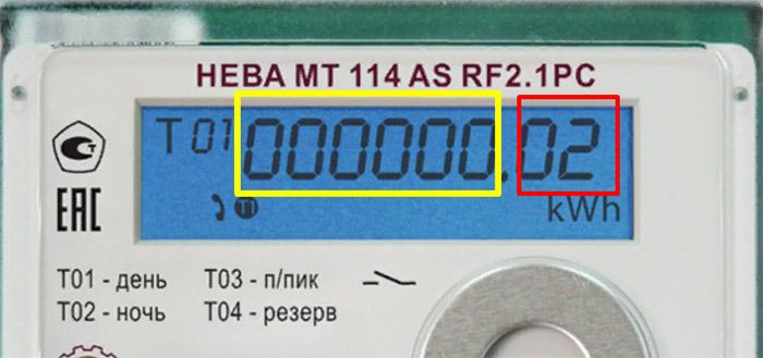 Снятие показаний со счётчика - Нева 114