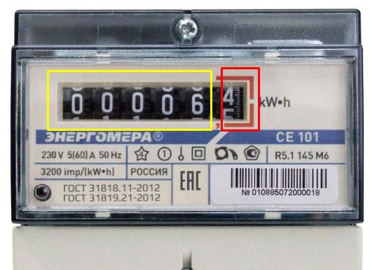 Снятие показаний со счётчика - Энергомера СЕ101