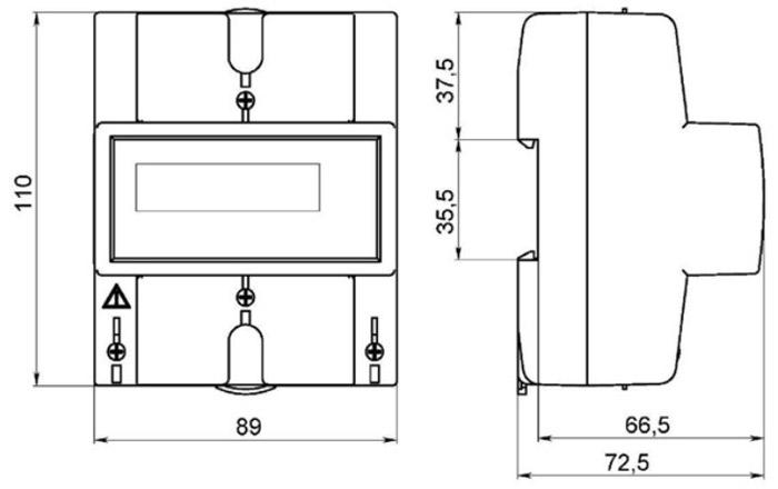 Размеры счётчиков электроэнергии - Энергомер СЕ102 R5